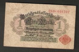 T. Germany German Empire  1 Mark 1914 - Ser. 260 . 446707 - [ 2] 1871-1918 : Duitse Rijk