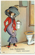 Scatologie Urinating  Girl Going To The Toilets With Tight Dress. Entravée  . Embarrassing - Illustrateurs & Photographes