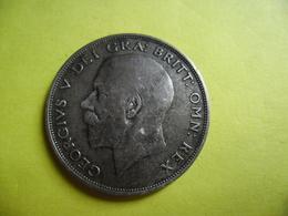 GRANDE BRETAGNE - HALF CROWN De 1921 Argent 50 % George V  1/2 Couronne - 1902-1971 : Post-Victorian Coins