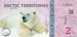 ARCTIC TERRITORIES 2 1/2 POLAR DOLLARS 2013 AUNC - Billets