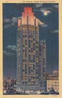 Illinois Chicago Tribune Tower At Night 1939 - Chicago