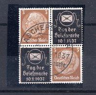 9676 Deutschland, Germany, Drittes Reich, Mi 513, Viererblock, TdM 1937, SoSt Aschersleben - Gebraucht