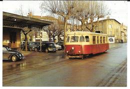 Cpm Castres- Albinque / Halle - Arrivée D'un Autorail Billard . - Castres