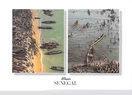 Afrique > COULEURS Du SENEGAL M'bour Le Port  De  Nbour Vue Du Ciel (Muliti Vues Pirogues) (RENAUDEAU 1181)  *PRIX FIXE - Sénégal