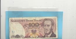 BANK POLSKI . 100 ZLOTYCH . WARSZAWA , 1 CZERWCA 1986 . 2 SCANES - Pologne