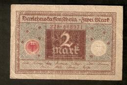 T. Germany German Weimar Republic Reichsbanknote 2 Mark 1920 # 225 . 668971 - 2 Mark