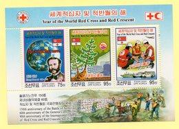 COREE DU NORD - NORTH KOREA - 2009 - CROIX-ROUGE - RED-CROSS - ANNEE DE LA CROIX ROUGE ET DU CROISSANT ROUGE - B/F - M/S - Korea, North