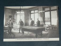 CHATILLON SUR CHALARONNE / ARDT Bourg-en-Bresse    1910  /   INTERIEUR RESTO BILLARD    ....  EDITEUR - Châtillon-sur-Chalaronne