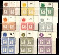 Palestine Timbres-taxe YT N° 12/19 En Blocs De 4 Neufs ** MNH. TB. A Saisir! - Palestine