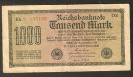 T. Germany Weimar Republic Reichsbanknote 1000 Mark Tausend 1922 Kh 156199 OE - [ 3] 1918-1933 : Weimar Republic