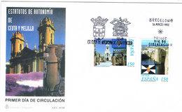 Spanien FDC 3375/6 Ceuta, Melilla - Tourismus, Architektur, Hafen, Burg, Kirche - Port, Castle, Cathedral - FDC
