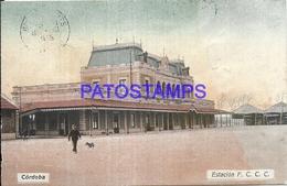 95092 ARGENTINA CORDOBA STATION TRAIN ESTACION DE TREN FERROCARRIL POSTAL POSTCARD - Argentina