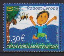 MONTENEGRO ,2017,MNH,JOY OF EUROPE,BEES, CHILD ART,  1v - Art