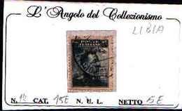 84997) LIBIA- Michetti Nero- 20 C. Su 15 C..- N..17 -USATO - Libya
