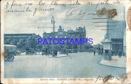 95097 ARGENTINA BUENOS AIRES ESTACION DE TREN STATION TRAIN ONCE 1929 SPOTTED POSTAL POSTCARD - Argentina