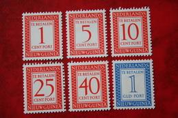 Port Zegels Postage Due NVPH P1-P6 1957 MH / Ongebruikt NIEUW GUINEA / NIEDERLANDISCH NEUGUINEA / NETHERLANDS NEW GUINEA - Nuova Guinea Olandese