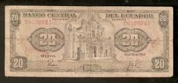 T. Banco Central Del Ecuador Veinte 20 Sucres 1983 Compania De Jesus-Guito # 06198043 - Ecuador