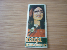 Nana Mouskouri Mousxouri Music Old Greek MELO '70s Game Trading Card - Trading Cards