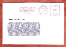 Drucksache, Francotyp-Postalia B08-2914, Steffek, 60 Pfg, Oberursel 1991 (53255) - BRD