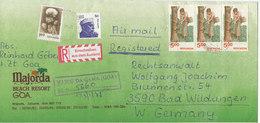 India Registered Cover Sent To Germany Vasco Da Gama (GOA) 23-1-1988 - India