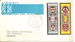 Papua New Guinea FDC 9-4-1969 Complete Set Of 2 National Heritage With Cachet - Papoea-Nieuw-Guinea