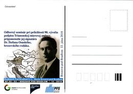 Slovaquie 22.6.2018, Traité De Trianon 98 Annee, Stefan Osuský, Petite Tirage - Postkaarten