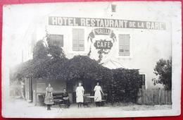 39 - Carte Photo - CHAMPAGNOLE - Cafe - HOTEL - RESTAURANT DE LA GARE - GRILLET - Champagnole