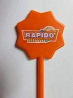 081 - Touilleur - Agitateur - Mélangeur à Boisson - Jeux Et Casino - Rapido - Orange - Swizzle Sticks