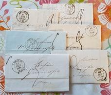 Ardèche - Collection Sur Annonay - 6 Documents - Marcophilie (Lettres)