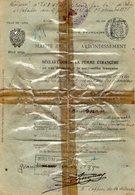 VP12.464 - Police X Mairie De PARIS 1938 - Déclaration De La Femme Etrangère Melle ? Polonaise ( Document Plastifié ) - Police & Gendarmerie