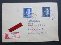 R-BRIEF Generalgouvernement Krakau - Dresden 1942////  D*32830 - Deutschland
