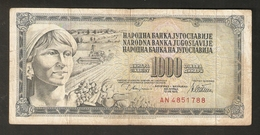 T. Yugoslavia Jugoslavije 1000 Dinara Dinarjev Beograd 12 VIII 1978 # AN 4851788 - Yugoslavia