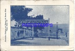 95154 ARGENTINA SIERRA DE LA VENTANA STATION TRAIN ESTACION DE TREN XI CAMPAMENTO UNIVERSITARIO NO POSTAL POSTCARD - Argentina