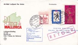 FIRST FLIGHT. LUFTHANSA  LH 198 BOEING 727 KOLN-PALMA DE MALLORCA 1980-BLEUP - [7] República Federal