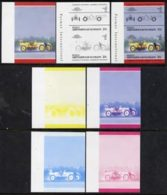 17435 St Vincent - Bequia 1984 Cars #2 (Leaders Of The World) 20c (1911 Marmon Wasp) Set Of 7 Imperf S (vintage Racing) - Cars