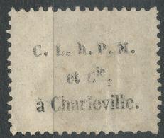 Lot N°43418  Variété/n56, Oblit GC 898 Charleville, Ardennes (7),  PUB Au Dos - 1871-1875 Cérès