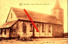 AMOUGIES - Eglise Et Monument Du Souvenir - Carte Circulée En 1923 - Kluisbergen
