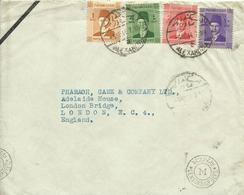 1944 Censored L Letter From Alexandria To London  4 Colours Franking - Covers & Documents