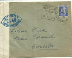 1939 Septembre  Lettre Censurée De Honfleur Vers Trouville - Marcophilie (Lettres)