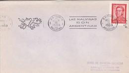 LAS MALVINAS SON ARGENTINAS 1969 BANDELETA PARLANTE. PATRIOTIQUES ARGENTINE ILES MALOUINES MALVINAS- BLEUP - Falkland Islands