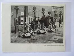 1931 - BERLIN - Course De Moto Side Car Enfants Motorradgespann Kinder - Coupure De Presse Originale (Encart Photo) - Documents Historiques