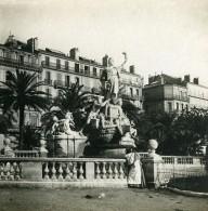 France Toulon Monument De La Fédération  Ancienne Photo Stéréo SIP 1900 - Stereoscopic