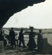 France Biarritz La Chambre D'Amour Grotte Ancienne Photo Stéréo CPS 1900 - Stereo-Photographie