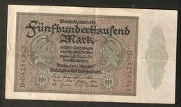 T. Germany Weimar Republic Reichsbanknote Funfhunderthaussend 500000 Mark 1923 # D . 04254343 - [ 3] 1918-1933 : Weimar Republic