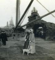 France Biarritz Rocher De La Vierge Ancienne Photo Stéréo CPS 1900 - Stereoscopic