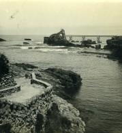 France Biarritz Vue Du Pont Du Diable Ancienne Photo Stéréo CPS 1900 - Stereoscopic