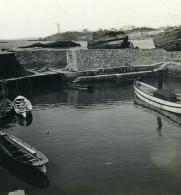 France Biarritz Port Des Pêcheurs Ancienne Photo Stéréo CPS 1900 - Stereoscopic