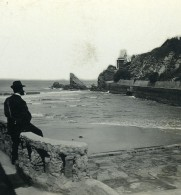 France Biarritz Villa Belza Ancienne Photo Stéréo CPS 1900 - Stereoscopic