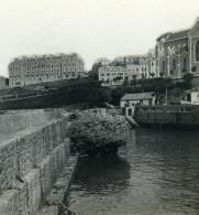France Biarritz Port Des Pêcheurs Ancienne Photo Stéréo CPS 1900 - Stereo-Photographie