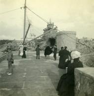 France Biarritz La Passerelle Ancienne Photo Stéréo CPS 1900 - Stereoscopic